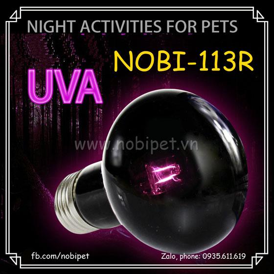 Đèn Sưởi Đêm UVA Halogen Ánh Sáng Mặt Trăng Cho Bò Sát Nobi-113R