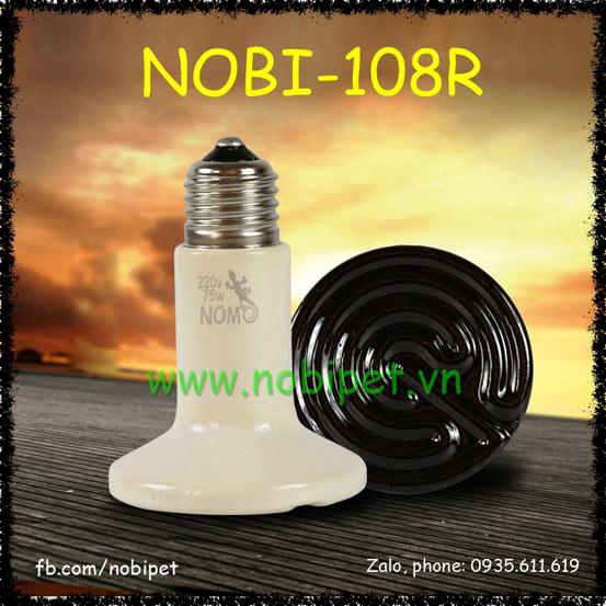 Đèn Sưởi Gốm Hồng Ngoại Thông Thường Nomo Cho Bò Sát Nobi-108R
