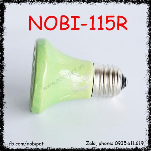 Đèn Sưởi Sứ Màu Sắc Nomo Nhiều Công Suất Cho Bò Sát Nobi-115R