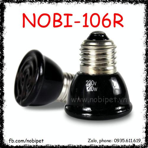 Đèn Sưởi Sứ Mini Hồng Ngoại Nomo Cách Điện Cho Bò Sát Nobi-106R