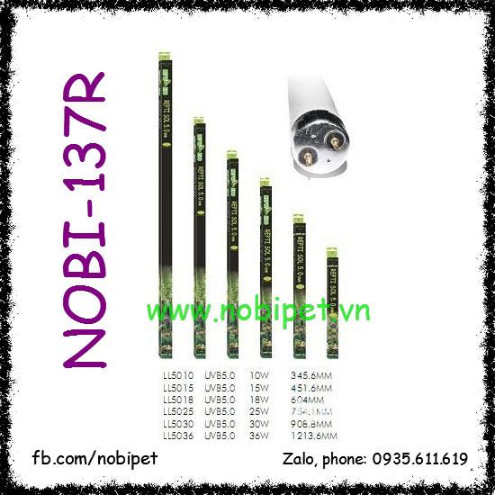 Đèn Tuyp UVB 5.0 Đa Công Suất Cho Bò Sát Nhiệt Đới Ẩm Nobi-137R