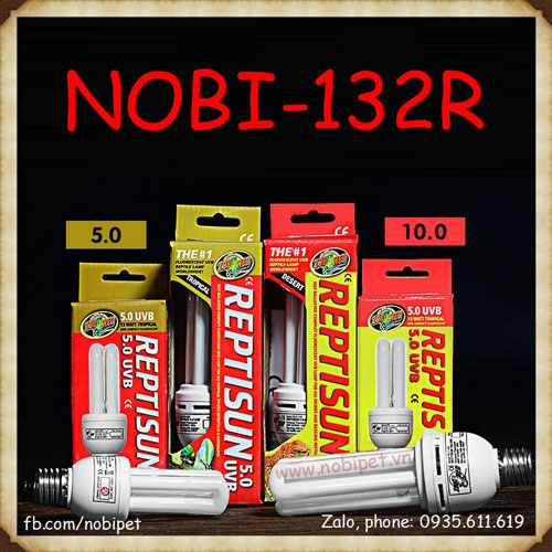 Đèn UVB 10.0 Và 5.0 Reptisun Cho Bò Sát Nhiệt Đới Nobi-132R