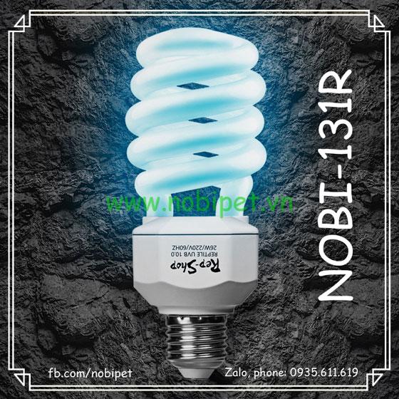 Đèn Xoắn UVB 5.0 Và 10.0 RS Tiết Kiệm Điện Cho Bò Sát Nobi-131R