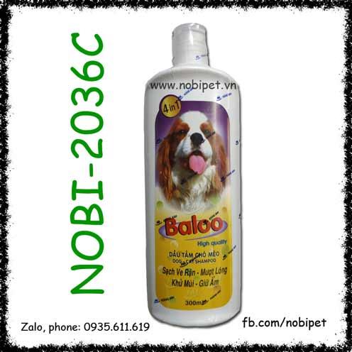 Fay Baloo 4 In 1 Dầu Tắm Chó Mèo Sạch Ve, Mượt Lông, Khử Mùi, Giữ Ẩm