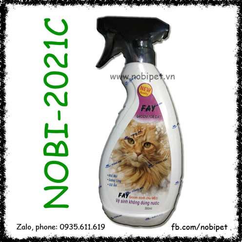 Fay Groom For Cat 350ml Sữa Tắm Khô Cho Mèo Dưỡng Da Và Lông