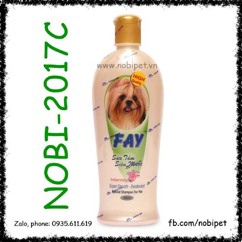 Fay Hương Internity Khử Mùi Sữa Tắm Siêu Mượt Lông Cho Chó Mèo