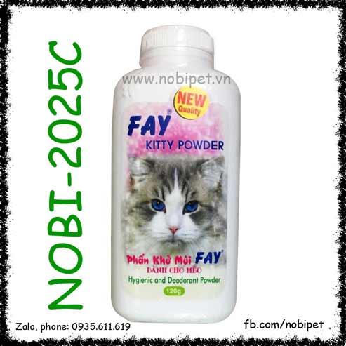 Fay Kitty Powder 120gr Phấn Tắm Khô Khử Mùi Dành Cho Mèo Nobi-2025C