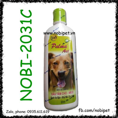 Fay Palma Act 300ml Sữa Tắm Cho Chó Mèo Trị Ve Rận Khử Mùi Hôi