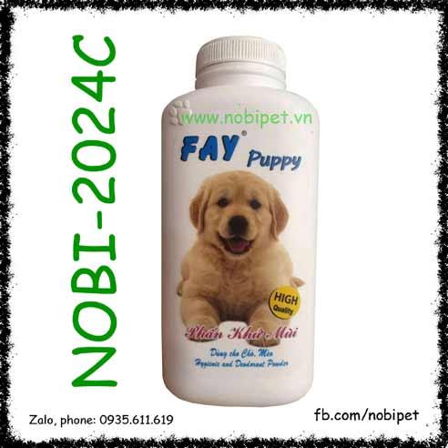 Fay Puppy 120gr Phấn Tắm Khô Khử Mùi Cho Chó Con Nobi-2024C