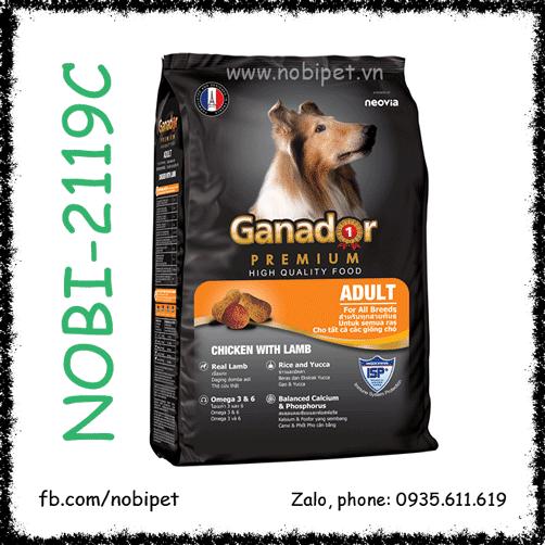 Ganador Premium Adult 20kg Thức Ăn Cho Chó Trên 12 Tháng Vị Thịt Cừu