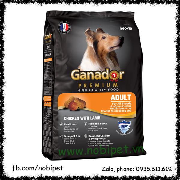 Ganador Premium Adult 500gr – Thức Ăn Cho Chó Lớn Vị Thịt Cừu NOBI-2071C