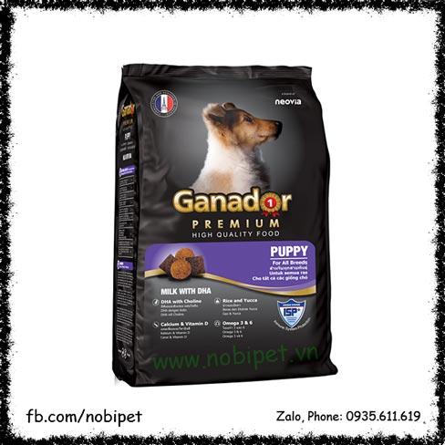 Ganador Puppy 1.5kg – Thức Ăn Cho Chó Con Vị Sữa Với DHA NOBI-2075C