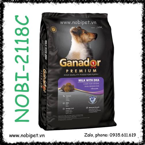 Ganador Puppy 20kg Bao Xá Thức Ăn Hạt Cho Chó Con Dưới 12 Tháng