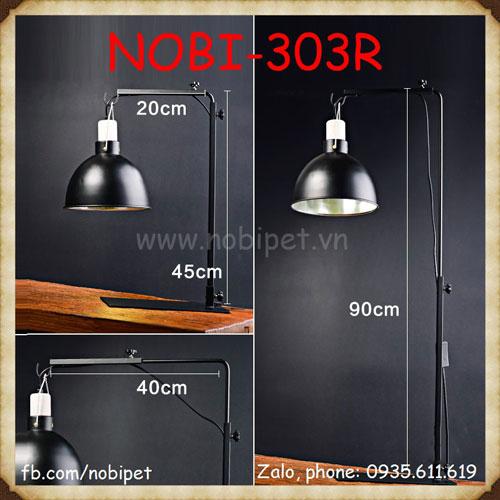 Giá Treo Bóng Đèn RS Điều Chỉnh 2 Trục Cho Bò Sát Nobi-303R
