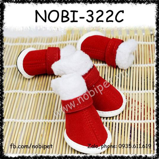 Giầy Mang Chân Noel Cho Chó Thời Trang Nobi-322C