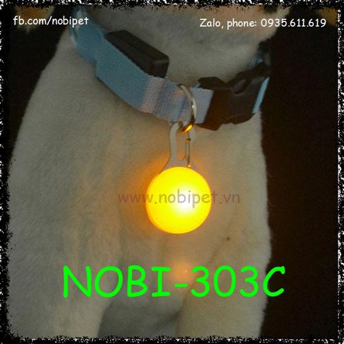 Hạt Đeo Cổ Led Phát Quang Độc Lạ Cho Chó Nobi-303C