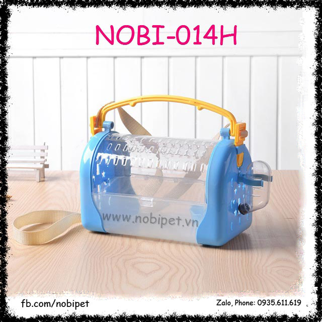 Hộp Nhựa Bakery Đựng Nhím Kiểng Đi Chơi Có Dây Đeo Nobi-014H