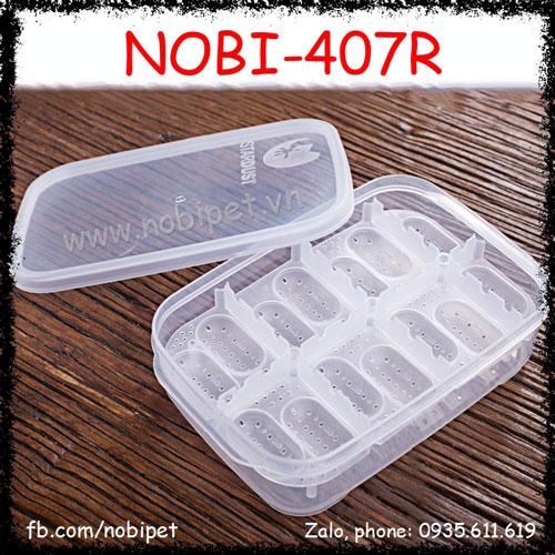 Hộp Nhựa Có Khay Đựng Trứng Bò Sát Chuyên Dụng Nobi-407R