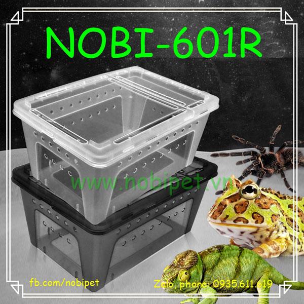 Hộp Nhựa Mini Nuôi Nhện Bò Cạp Ếch Bò Sát Nhỏ Có Nắp Nobi-401R