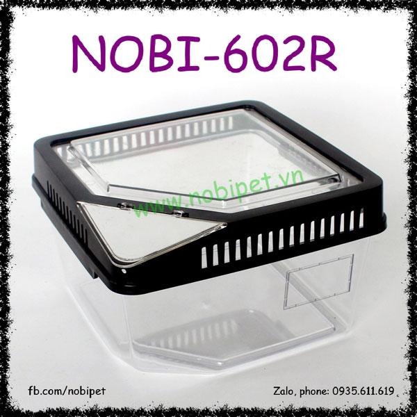 Hộp Nhựa Pira Cao Cấp Nuôi Bò Sát Nhỏ Bò Cạp Nhện Ếch Nobi-602R