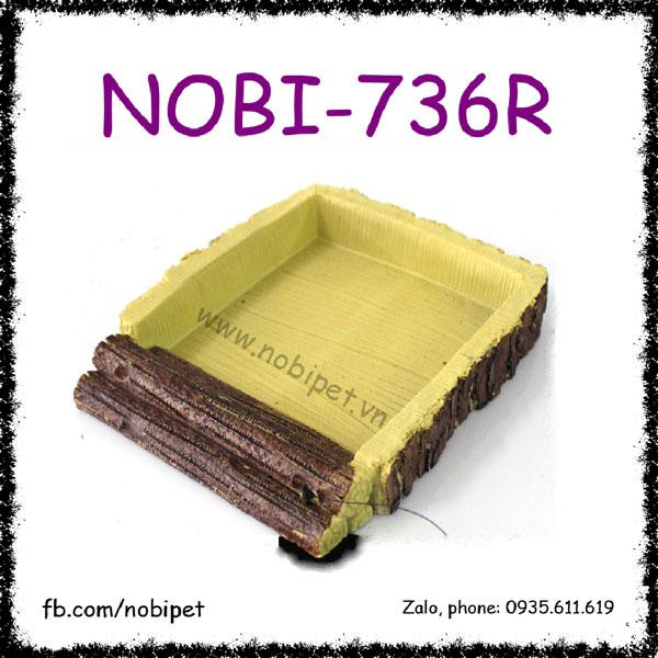 Khay Giả Gỗ Sồi Tạo Cảnh Đựng Thức Ăn Cho Nhím Kiểng Nobi-736R