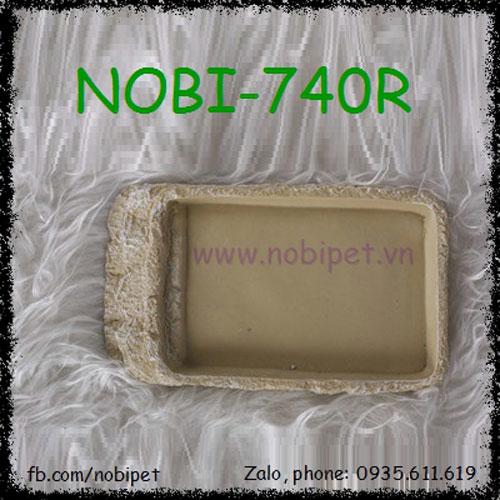 Khay Thức Ăn Maya Giả Đá Cẩm Thạch Cho Bò Sát Nobi-740R