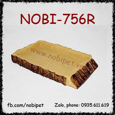Khay Thức Ăn Trias Giả Gỗ Cho Rùa Rồng Nam Mỹ Bò Sát Nobi-756R