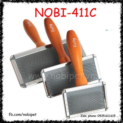 Lược Chải Lông Petty Cán Gỗ Cho Chó Mèo Nobi-411C