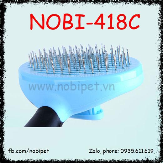 Lược Chải Silver Loại Bỏ Lông Rụng Cho Chó Mèo Nobi-418C