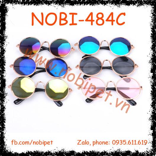 Mắt Kính Tròn Retro cho Chó Mèo NOBI-484C