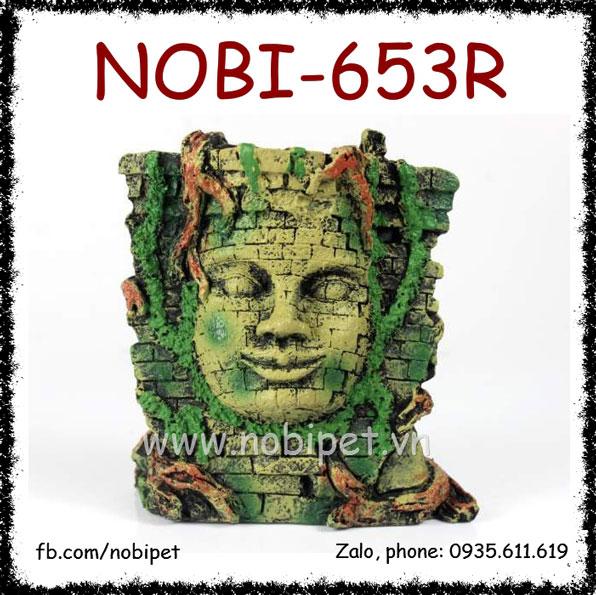 Mặt Tượng Phật Trên Tường Gạch Tạo Cảnh Vật Cho Bò Sát Nobi-653R