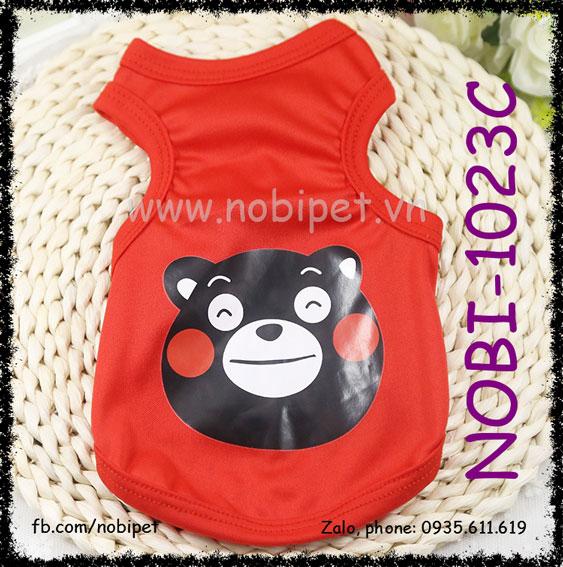 Áo Gấu Baby Thời Trang Mùa Hè Cho Sóc Bắc Mỹ Nobi-1023C