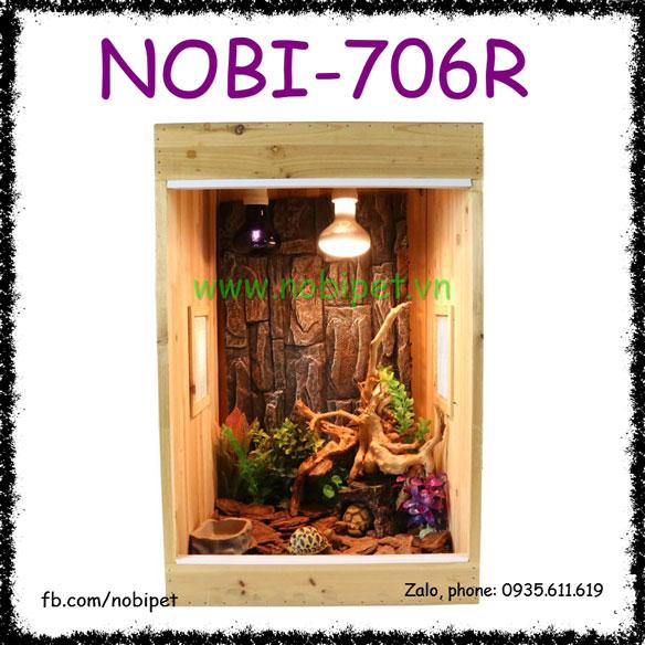 Chuồng Gỗ Monitor Hình Hộp Nuôi Tắc Kè Hoa Chameleon Nobi-706R