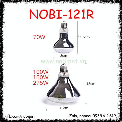 Mega-Ray Đèn Mặt Trời UVA UVB Đầy Đủ Quang Phổ Cho Bò Sát Nobi-121R