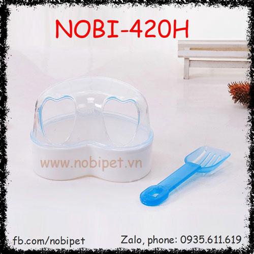Nhà Tắm Lovebird 2 Trái Tim Cho Chuột Hamster Nobi-420H