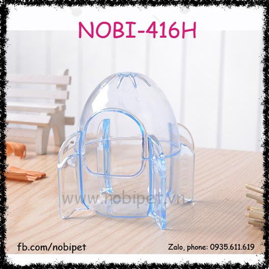 Nhà Tắm Tên Lửa Pha Lê Cho Chuột Hamster Nobi–416H