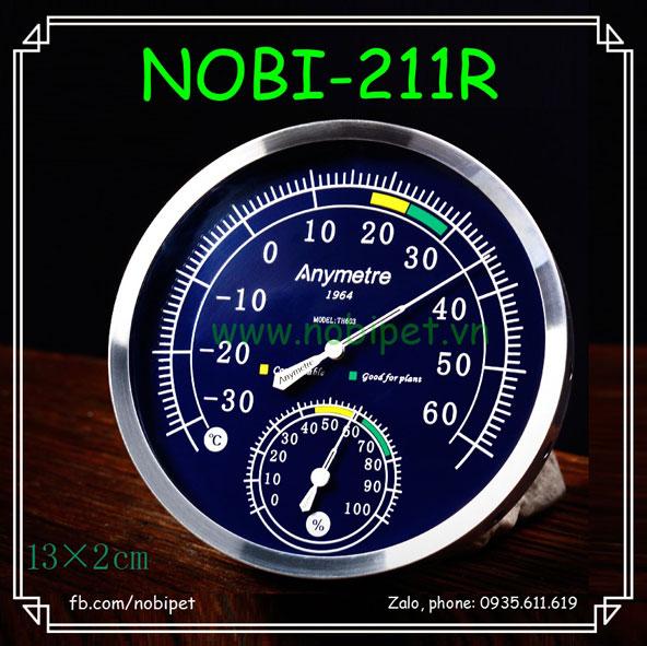 Nhiệt Ẩm Kế Cơ Anymetre Cổ Điển 2 Trong 1 Cho Bò Sát Nobi-211R