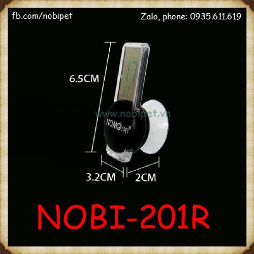 Nhiệt Kế Điện Tử Mini Nomo Gắn Chuồng Nuôi Cho Bò Sát Nobi-201R