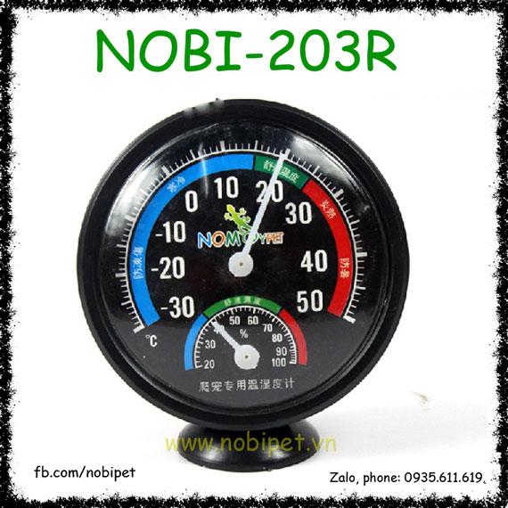 Nhiệt Kế Và Ẩm Kế Cơ Nomo 2 Trong 1 Cho Bò Sát Nobi-203R