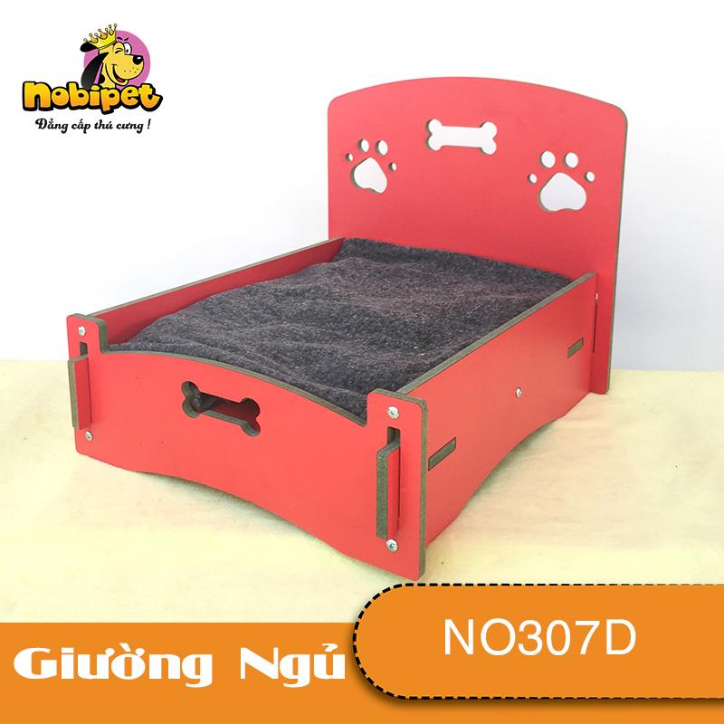 Giường Nằm Gỗ Lắp Ráp Queen Mini Cho Dòng Chó Mèo Nhỏ (40x33x30 cm)