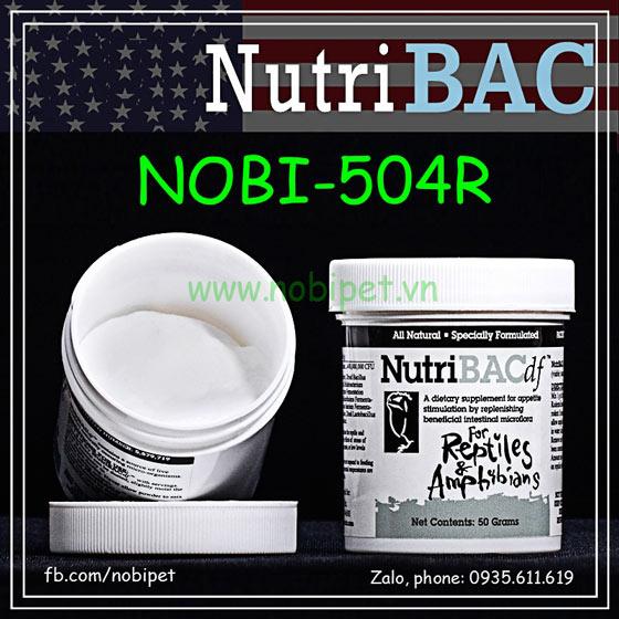 Nutri BAC Thuốc Hỗ Trợ Chống Tiêu Chảy Cho Bò Sát Nobi-504R