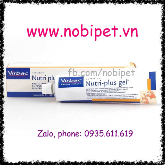 Nutri-Plus Gel Virbac Thực Phẩm Kem Dinh Dưỡng Cho Chó Mèo NOBI-112M
