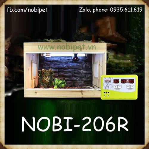 Ổ Cắm Điện 3 Trong 1 Nomo Điều Chỉnh Nhiệt Cho Bò Sát Nobi-206R