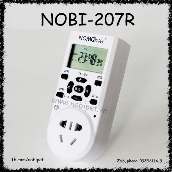 Ổ Cắm Điện Hẹn Giờ Bật Tắt Nomo 1 Khe Cho Bò Sát Nobi-207R