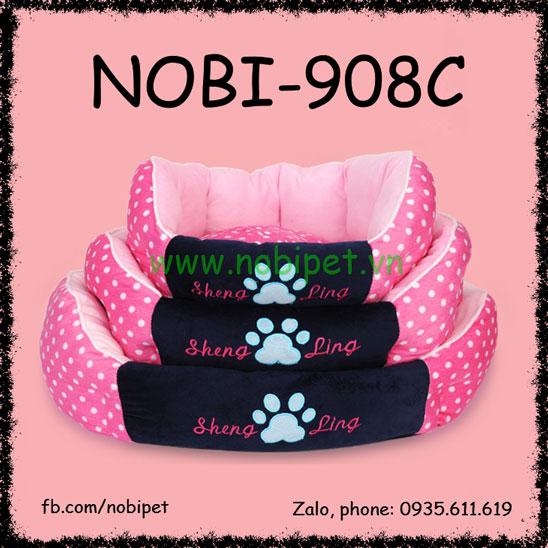 Ổ Nệm Moscow Cho Chó Mèo Nằm Có Tựa Đầu Nobi-908C