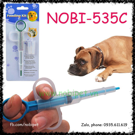 Ống Bơm Thức Ăn Y Tế Cho Chó Mèo Bị Đau Nobi-541C