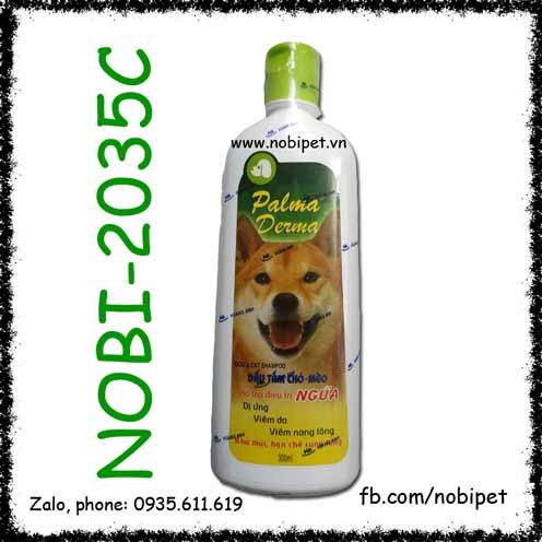 Palma Derma 300ml Dầu Tắm Cho Chó Mèo Ngừa Viên Da Dị Ứng Nobi-2035C