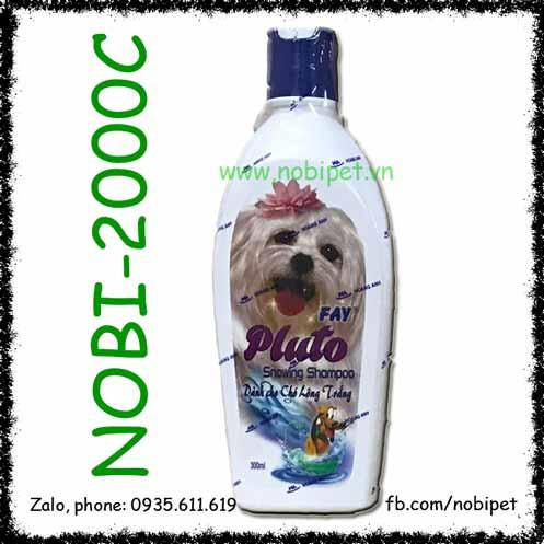 Pluto Snowing Shampoo 300ml Sữa Tắm Fay Cho Chó Lông Trắng