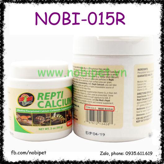 Repti Calcium Canxi D3 Hãng Zoomed Cho Bò Sát Nobi-015R