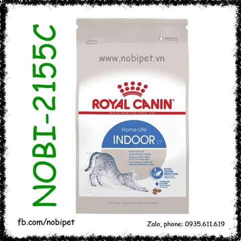 Royal Canin Indoor 27 2kg Thức Ăn Hạt Cho Mèo Nhà Trên 12 Tháng Tuổi
